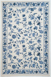Kas Colonial Floral Ivory/Blue 1727 Area Rug