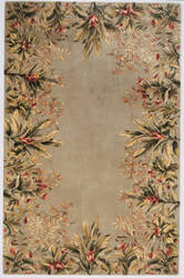 Kas Emerald Tropical Border 9026 Sage Area Rug