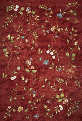Kas Horizon 5717 Red Floral Area Rug