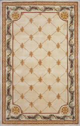 Kas Jewel Fleur-De-Lis Antique Ivory 310 Area Rug