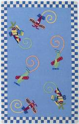 KAS Kidding Around Flying Fun 417 Multi Area Rug
