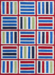 KAS Kozy Kids 557 Blue/Red Elements Area Rug