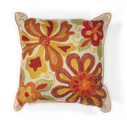Kas Sea Flora Pillow L123 Ivory - Red