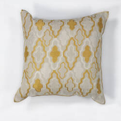 Kas Groove Pillow L132 Ivory - Yellow