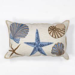 Kas Seashells Pillow L168 Ivory - Blue