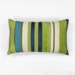 Kas Stripes Pillow L169 Teal - Blue