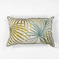 Kas Palms Pillow L170 Ivory - Green