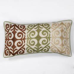Kas Damask Pillow L171 Ivory - Multicolor