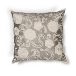 Kas Floral Pillow L179 Silver