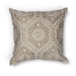 Kas Damask Pillow L183 Silver