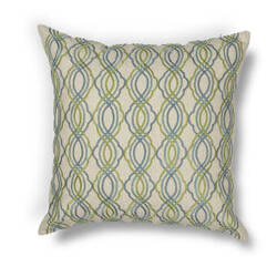 Kas Waves Pillow L195 Blue - Green