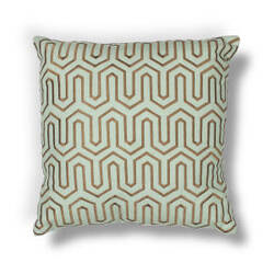 Kas Geo Pillow L201 Seafoam