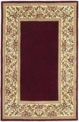 Kas Ruby Floral Border Ruby 8979 Area Rug