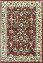 KAS Shiraz 5007 Red/Ivory Mahal Area Rug