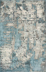 Kas Watercolors 6233 Ivory - Teal Area Rug