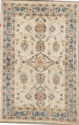 Kashee Lahore Ivory - Light Blue 2'8'' x 4'1'' Rug