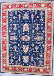 Kashee Taro OAK Blue - Red Area Rug