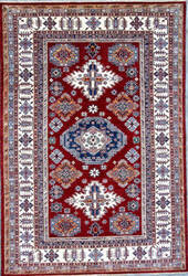 Kashee Royal Kazak OAK Rust - Ivory Area Rug