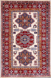 Kashee Royal Kazak OAK Ivory - Rust Area Rug