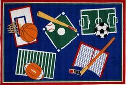 Fun Rugs Fun Time Sports A Rama BBB-001 Multi Area Rug