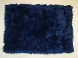 Fun Rugs Flokati DARK BLUE FLK-001 Dark Blue Area Rug