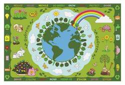 Fun Rugs Fun Time Go Green FT-101 Multi Area Rug