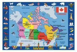 Fun Rugs Fun Time Map of Canada FT-132 Multi Area Rug