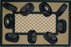 Fun Rugs Fun Time Tire Border FT-136 Multi Area Rug