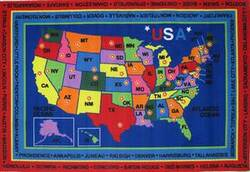 Fun Rugs Fun Time State Capitals FT-184 Multi Area Rug