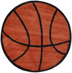 Fun Rugs Fun Time Shape Basketball FTS-004 Multi Area Rug