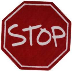 Fun Rugs Fun Time Shape Stop Sign FTS-029 Multi Area Rug