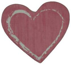 Fun Rugs Fun Time Shape Pink Heart FTS-055 Multi Area Rug