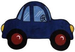 Fun Rugs Fun Time Shape Blue Car FTS-103 Multi Area Rug