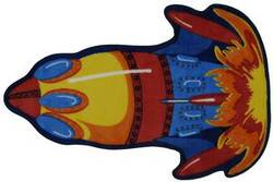 Fun Rugs Fun Time Shape Rocket FTS-131 Multi Area Rug