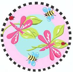 Fun Rugs Jade Reynolds Pink Dragonfly JR-TSC-011 Multi Area Rug