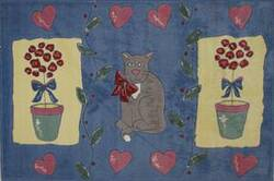 Fun Rugs Jade Reynolds Cat & Pot JR-TSC-155 Multi Area Rug