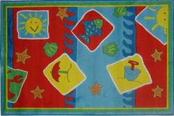 Fun Rugs Jade Reynolds Beach Blanket JR-TSC-165 Multi Area Rug