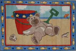 Fun Rugs Jade Reynolds Beach Bear JR-TSC-173 Multi Area Rug