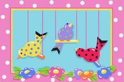 Fun Rugs Jade Reynolds Swingin' Chicks JR-TSC-201 Multi Area Rug