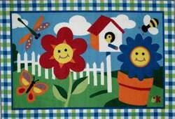 Fun Rugs Olive Kids Happy Flowers OLK-001 Multi Area Rug
