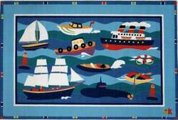 Fun Rugs Olive Kids Boats & Bouys OLK-002 Multi Area Rug