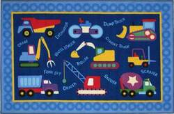 Fun Rugs Olive Kids Under Construction OLK-026 Multi Area Rug