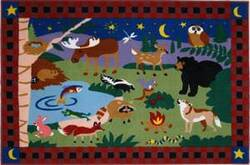 Fun Rugs Olive Kids Camp Fire Friends OLK-058 Multi Area Rug