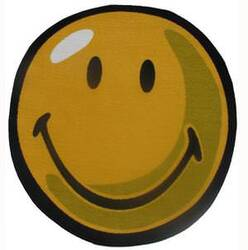 Fun Rugs Smiley World Smiley Round SW-10 Yellow Area Rug