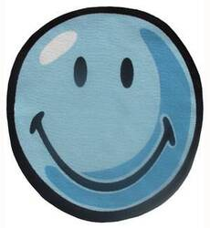 Fun Rugs Smiley World Smiley Round SW-11 Blue Area Rug