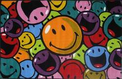 Fun Rugs Smiley World Smiles and Laughs SW-15 Multi Area Rug