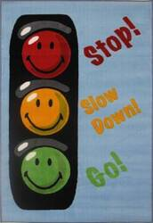 Fun Rugs Smiley World Traffic Signal SW-16 Multi Area Rug