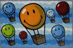 Fun Rugs Smiley World Hot Air Balloon SW-17 Multi Area Rug