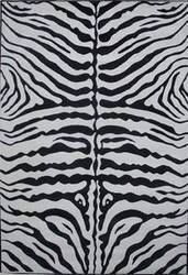 Fun Rugs Supreme Zebra Skin TSC-045 Black White Area Rug