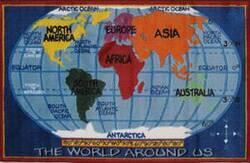 Fun Rugs Supreme Kids World Map TSC-161 Multi Area Rug